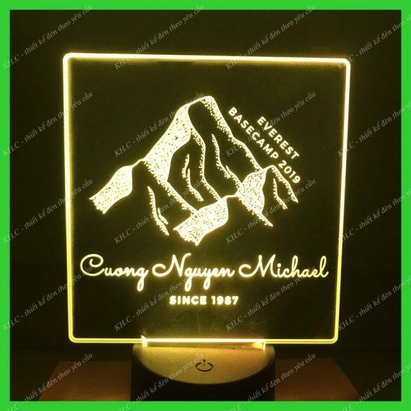 Đèn led khắc hình ngon núi , đèn trang trí, đèn ngủ khachinh.com