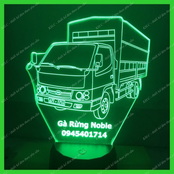 Đèn led khắc hình xe tải JRD khachinh.com