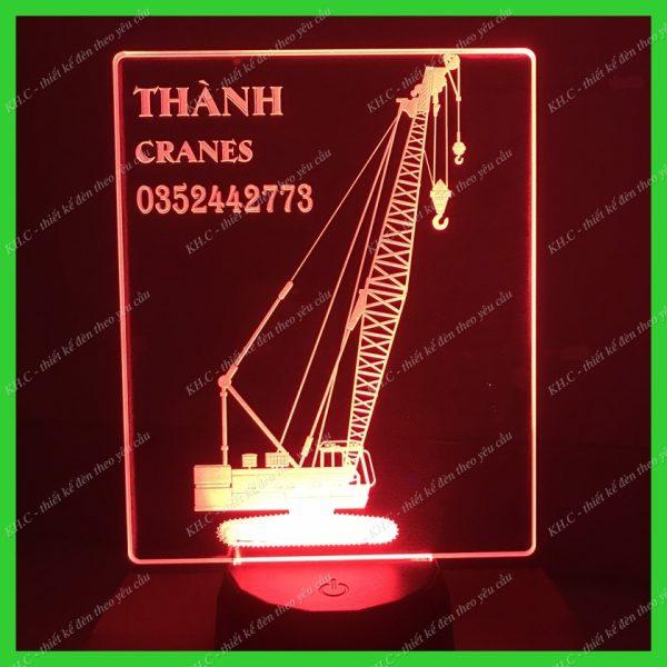 Đèn led trang trí hình xe cần cẩu khachinh.com