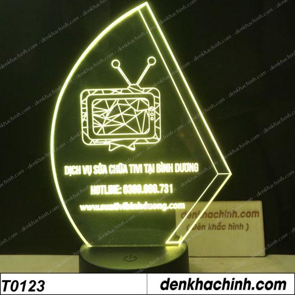 Đèn khắc Logo sửa chữa  Tivi, Logo Thương Hiệu, Thiết kế và khắc hình theo yêu cầu khachinh.com