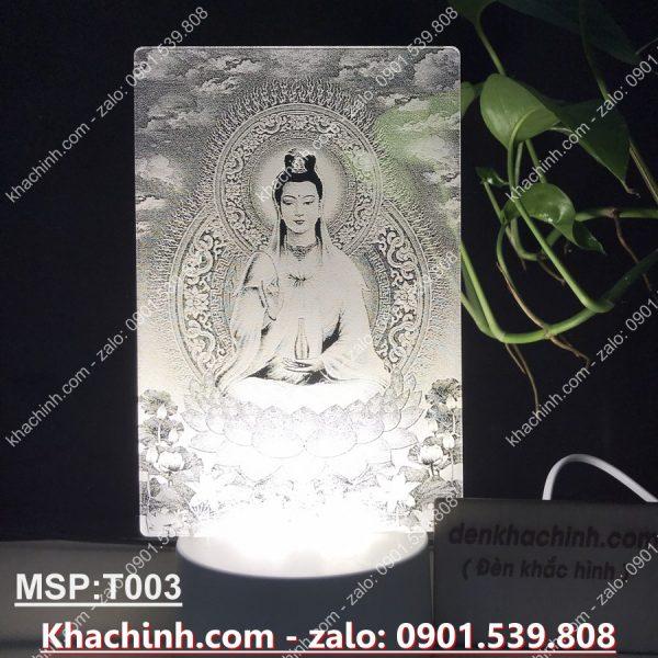 ĐÈN KHẮC TƯỢNG MẸ QUAN ÂM TỌA TÒA SEN khachinh.com