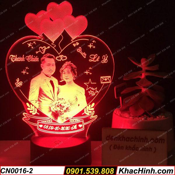 Đèn ngủ khắc hình theo yêu cầu, đèn trang trí, quà tặng quà cưới độc đáo khachinh.com