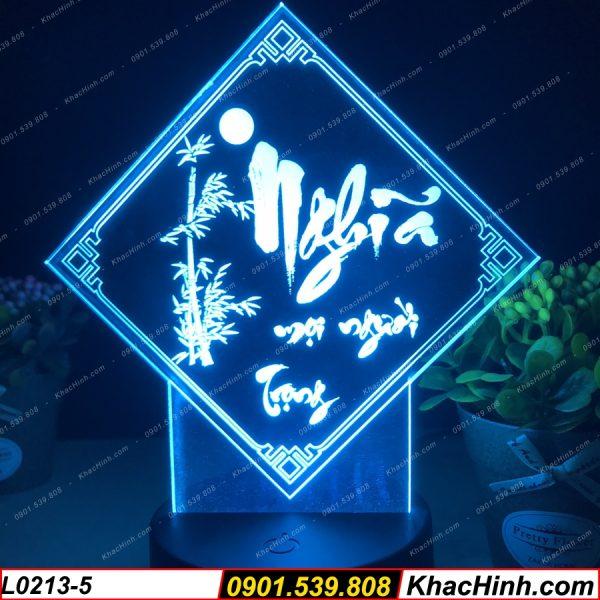 Đèn tranh thư pháp chữ Nghĩa (Nghĩa mọi người trọng), đèn thư pháp khắc hình theo yêu cầu, quà tặng độc đáo, đèn để bàn - đèn trang trí khachinh.com